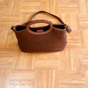 Fossil Crossbody Basket Straw Bag